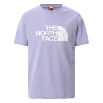 textil Flickor T-shirts The North Face EASY BOYFRIEND TEE SWEAT Violett