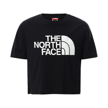 textil Flickor T-shirts The North Face EASY CROPPED TEE Svart