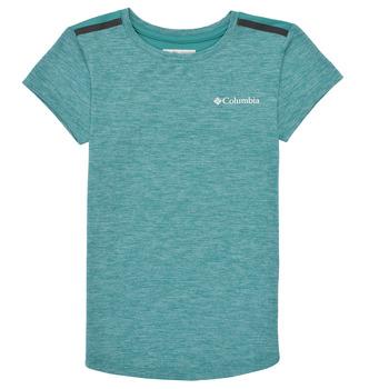textil Flickor T-shirts Columbia TECH TREK Grön