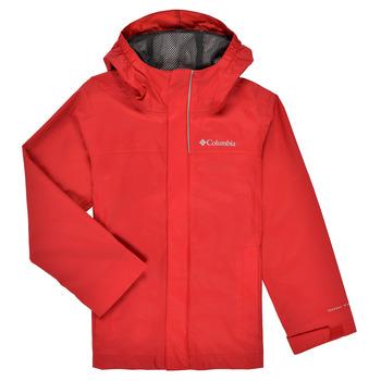 textil Pojkar Vindjackor Columbia WATERTIGHT JACKET Röd
