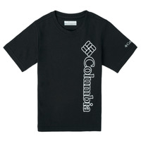 textil Pojkar T-shirts Columbia HAPPY HILLS GRAPHIC Svart