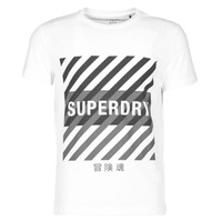 textil Herr T-shirts Superdry TRAINING CORESPORT GRAPHIC TEE Vit