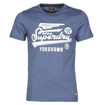 textil Herr T-shirts Superdry MILITARY GRAPHIC TEE 185 Blå