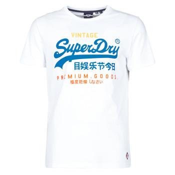 textil Herr T-shirts Superdry VL TRI TEE 220 Vit