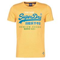 textil Herr T-shirts Superdry VL TRI TEE 220 Gul