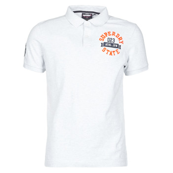 textil Herr T-shirts Superdry CLASSIC SUPERSTATE S/S POLO Grå