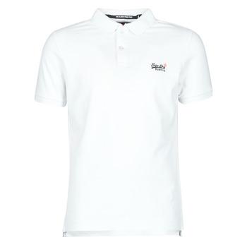 textil Herr T-shirts Superdry CLASSIC PIQUE S/S POLO Vit