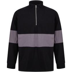 textil Tröjor Front Row FR06M Svart/Charcoal