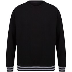 textil Sweatshirts Front Row FR840 Svart/lädergrå