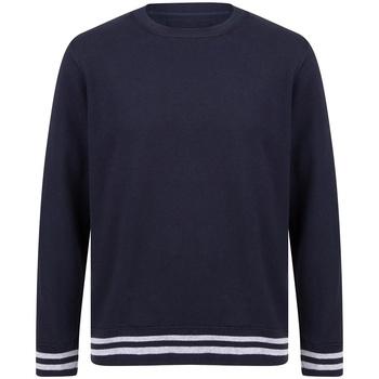 textil Sweatshirts Front Row FR840 Marinblått/lädergrått