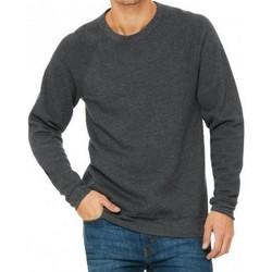 textil Herr Sweatshirts Bella + Canvas CV3901 Mörkgrått ljummet