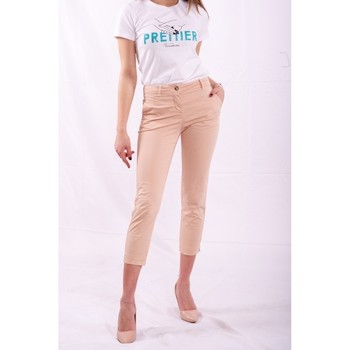 textil Dam Chinos / Carrot jeans Fracomina FR20SPCTINA14 Beige