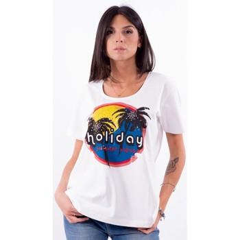 textil Dam T-shirts Persona By Marina Rinaldi VALUTA Vit