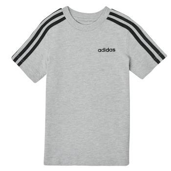 textil Pojkar T-shirts adidas Performance YB E 3S TEE Grå