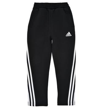 textil Pojkar Joggingbyxor adidas Performance B 3S TAPERED P Svart