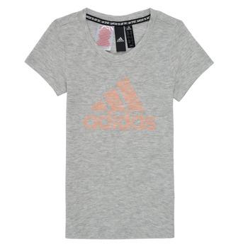 textil Flickor T-shirts adidas Performance JG A MHE TEE Vit