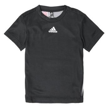 textil Pojkar T-shirts adidas Performance B A.R. TEE Svart