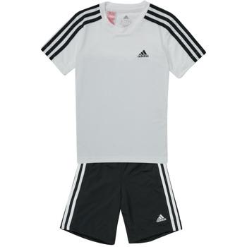 textil Pojkar Sportoverall adidas Performance B 3S T SET Vit / Svart