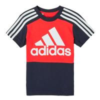 textil Pojkar T-shirts adidas Performance B CB T Röd / Marin
