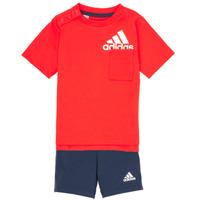 textil Pojkar Set adidas Performance BOS SUM  SET Röd / Svart