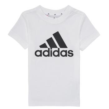 textil Pojkar T-shirts adidas Performance B BL T Vit