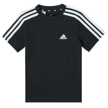 textil Pojkar T-shirts adidas Performance B 3S T Svart