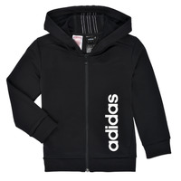 textil Pojkar Sweatshirts adidas Performance YB TR 3S FZ Svart