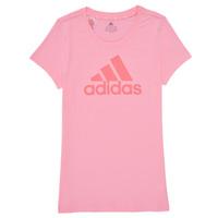 textil Flickor T-shirts adidas Performance G BL T Rosa