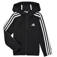 textil Flickor Sweatshirts adidas Performance G 3S FZ HD Svart