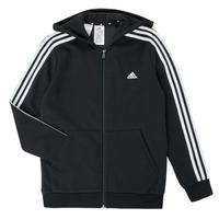 textil Pojkar Sweatshirts adidas Performance B 3S FZ HD Svart