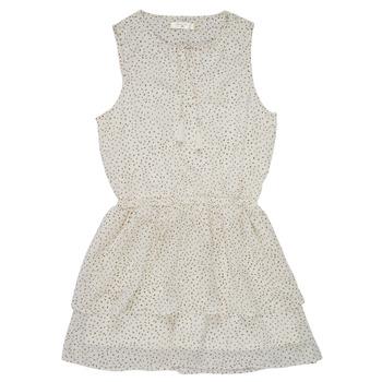 textil Flickor Korta klänningar Deeluxe JESTA Vit