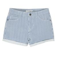textil Flickor Shorts / Bermudas Deeluxe BILLIE Vit / Blå