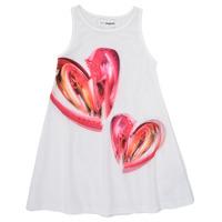 textil Flickor Korta klänningar Desigual 21SGVK12-1000 Vit