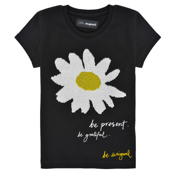 textil Flickor T-shirts Desigual 21SGTK28-2000 Svart