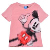 textil Flickor T-shirts Desigual 21SGTK43-3013 Rosa