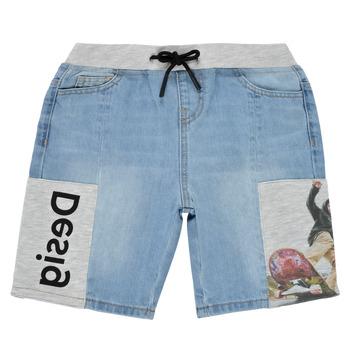 textil Pojkar Shorts / Bermudas Desigual 21SBDD02-5053 Blå