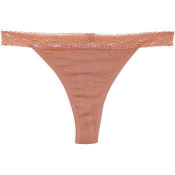 Underkläder Dam String Underprotection BB1003 BEA STRING 3 PACK TAN Beige