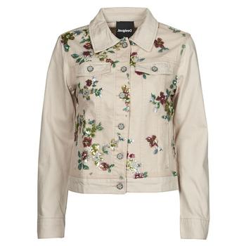 textil Dam Jeansjackor Desigual BRILLIGRIN Rosa