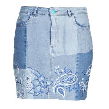 textil Dam Kjolar Desigual BE BLUE Blå