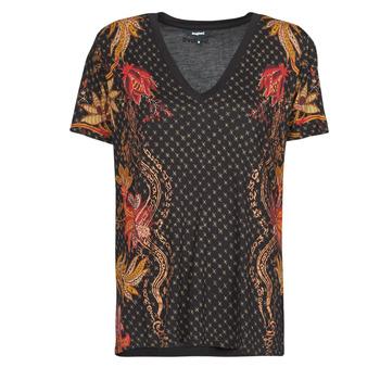 textil Dam T-shirts Desigual PRAGA Svart