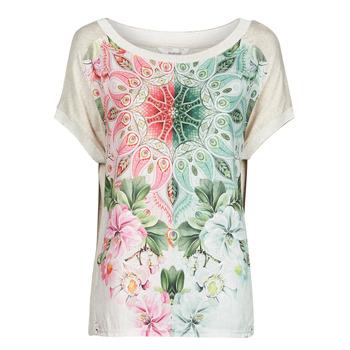 textil Dam T-shirts Desigual COPENHAGUE Vit