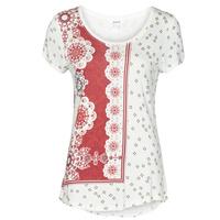 textil Dam T-shirts Desigual ESTAMBUL Vit