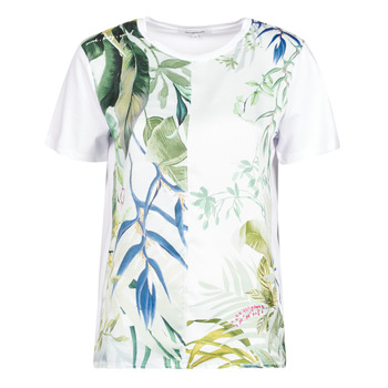 textil Dam T-shirts Desigual BUDAPEST Vit