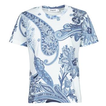 textil Dam T-shirts Desigual POPASLEY Blå