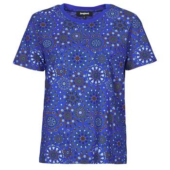 textil Dam T-shirts Desigual LYON Marin
