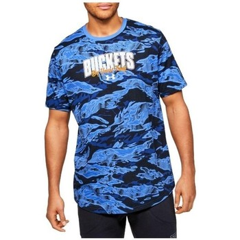 textil Herr T-shirts Under Armour Baseline Verbiage Tee Blå,Grenade