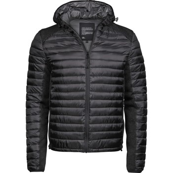 textil Herr Täckjackor Tee Jays T9610 Svart/Svart Melange