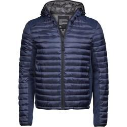 textil Herr Täckjackor Tee Jays T9610 Marinblått/marint melange
