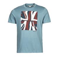 textil Herr T-shirts Ben Sherman HALF TONE FLEG TEE Blå