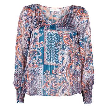textil Dam Blusar Cream SHEENA BLOUSE Blå
